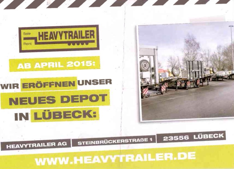 Neues Heavytrailer-Depot in Lübeck