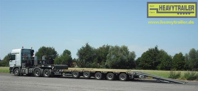 Meusburger 5-axle-semi-trailer with hydraulic ramps