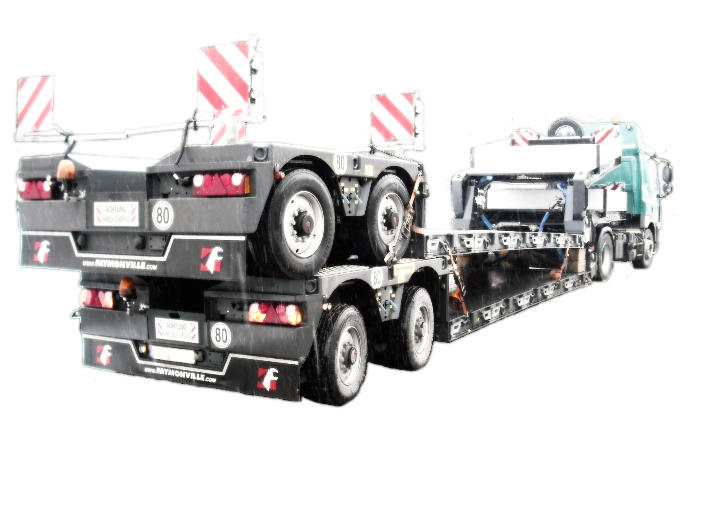 Start with heavy trailer vehicles