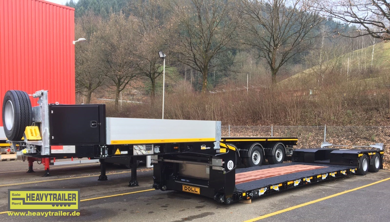 Doll 2-axle low-deck trailer with Panther-axle - jet black