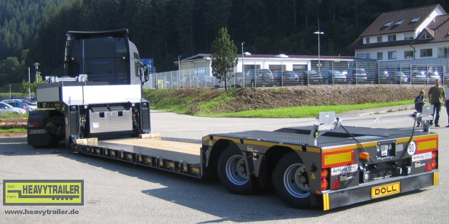 Doll 2-axle low-deck trailer with Panther-axle